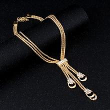 jiayijiaduo Vintage Gold-color Bridal Rhinestone jewellry set