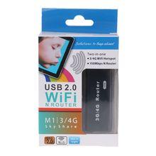 ANENG Мини Портативный 3g/4G wi-fi/WLAN точка доступа клиент 150 Мбит/с USB беспроводной маршрутизатор Новый