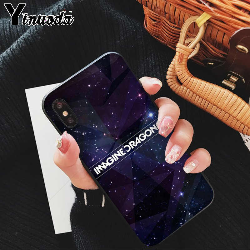 Yinuoda noche música imagine dragons música negro TPU funda de teléfono suave para Apple iPhone 8 7 6S plus X XS X MAX 5 5S SE XR