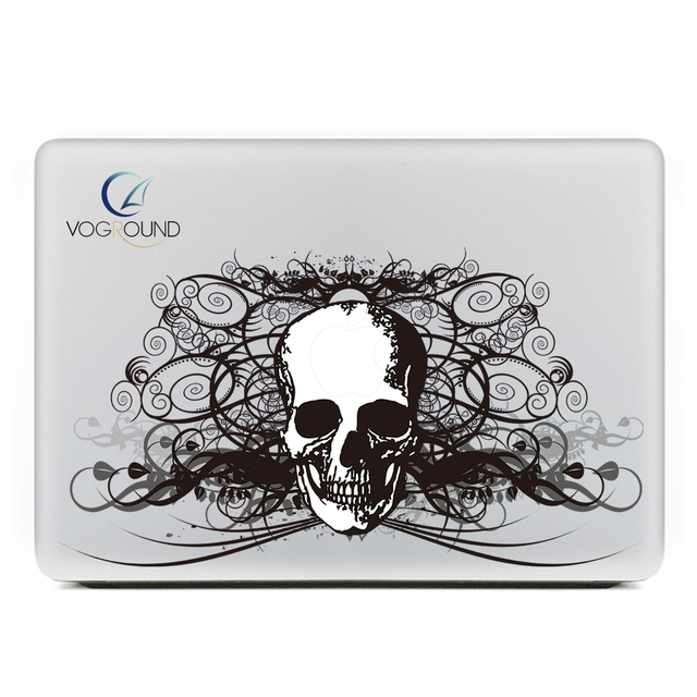 New halloween scary skull skeleton 07 kulit sticker decal untuk apple macbook air pro retina