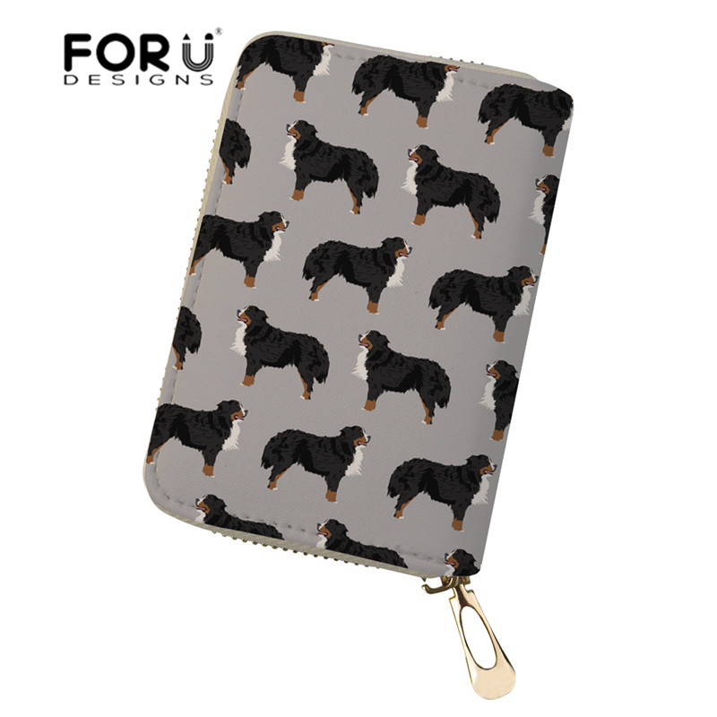 Coin Purses & Holders 3d Cute Pets Corgi Dog New Solid Color Passport Card Holder Travel Multi Function Portable Card Cover Bag Package Id Tick Folder