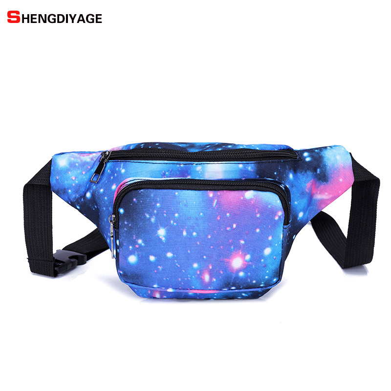 New 3D Colorful Waist Pack for Men Fanny Pack Bum Bag unicorn Women Money Belt Travelling Mobile Phone Bag sac banane femme цена