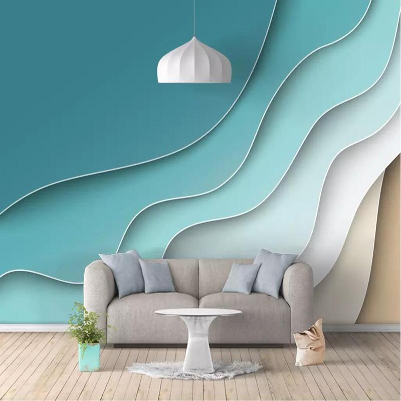 Us 2213 46 Off3 D Photo Wallpaper Wall Desktop Mural Custom European Abstract Line Nordic Simple Wallpaper Living Room Bedroom Study Kitchen In
