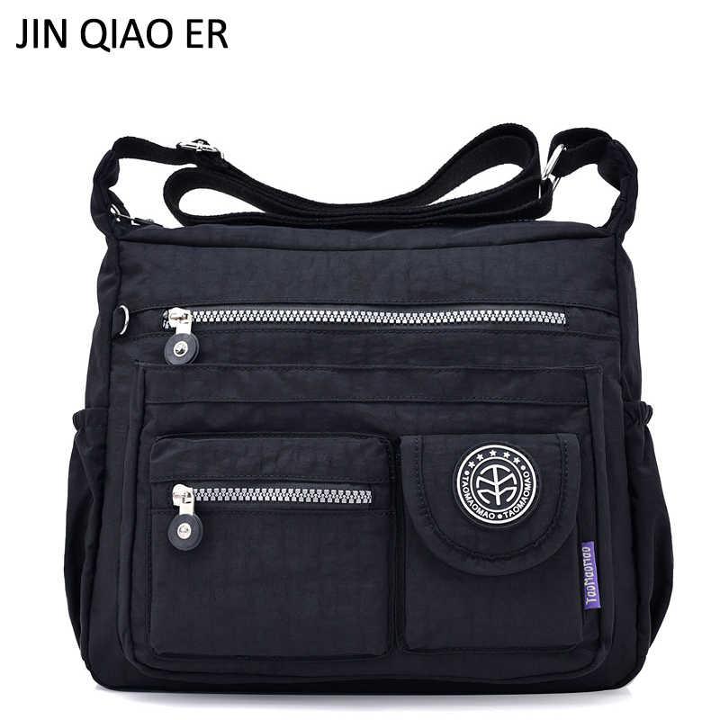JINQIAOER Waterproof Nylon Women Shoulder Bag Casual Women Handbags High  Quality Female Multi-pocket Zipper 7a98416d74201