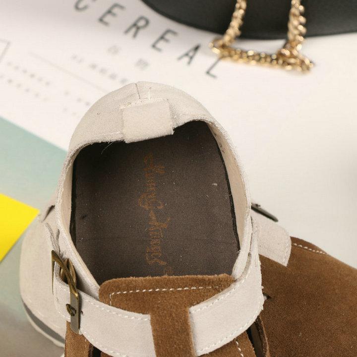 HUIFENGAZURRCS-Spring original retro art handmade Mori girl shoes,College casual genuine leather shoes,Buckle flat shoes,2colors