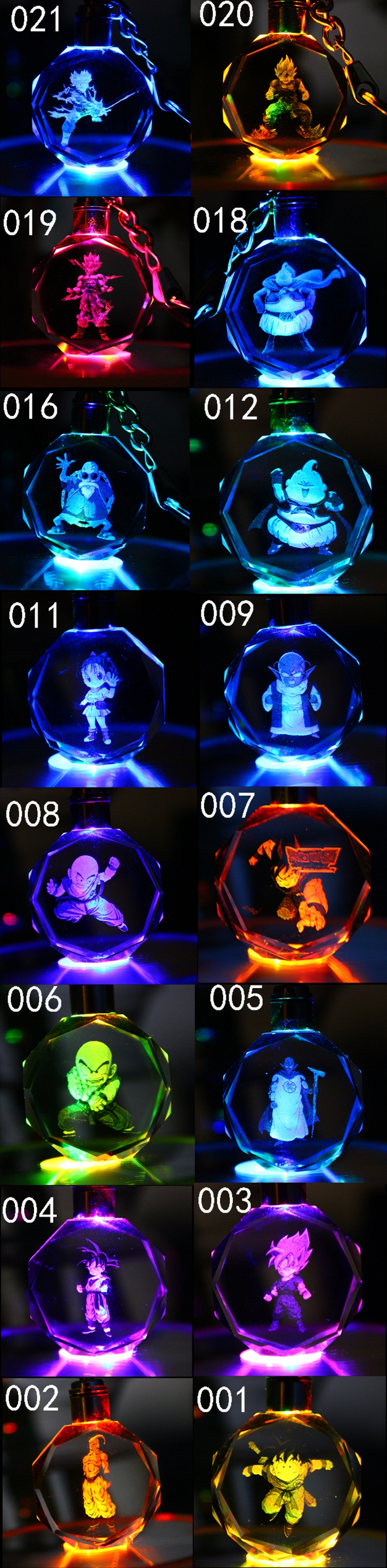 Dragon Ball Z Figure Keychain in number order