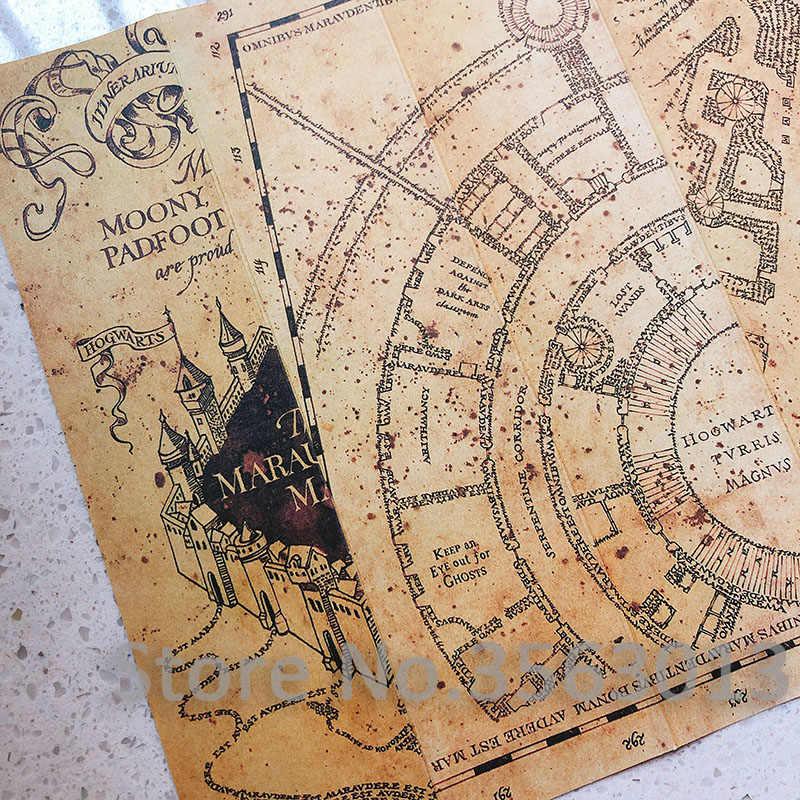 2019 novo popular potters o mapa do marauder assistente escola bilhete estudantes harried coleção presentes fãs festa