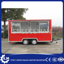 Mobile Food Concession Trailer Ice Cream Crepe For Sale