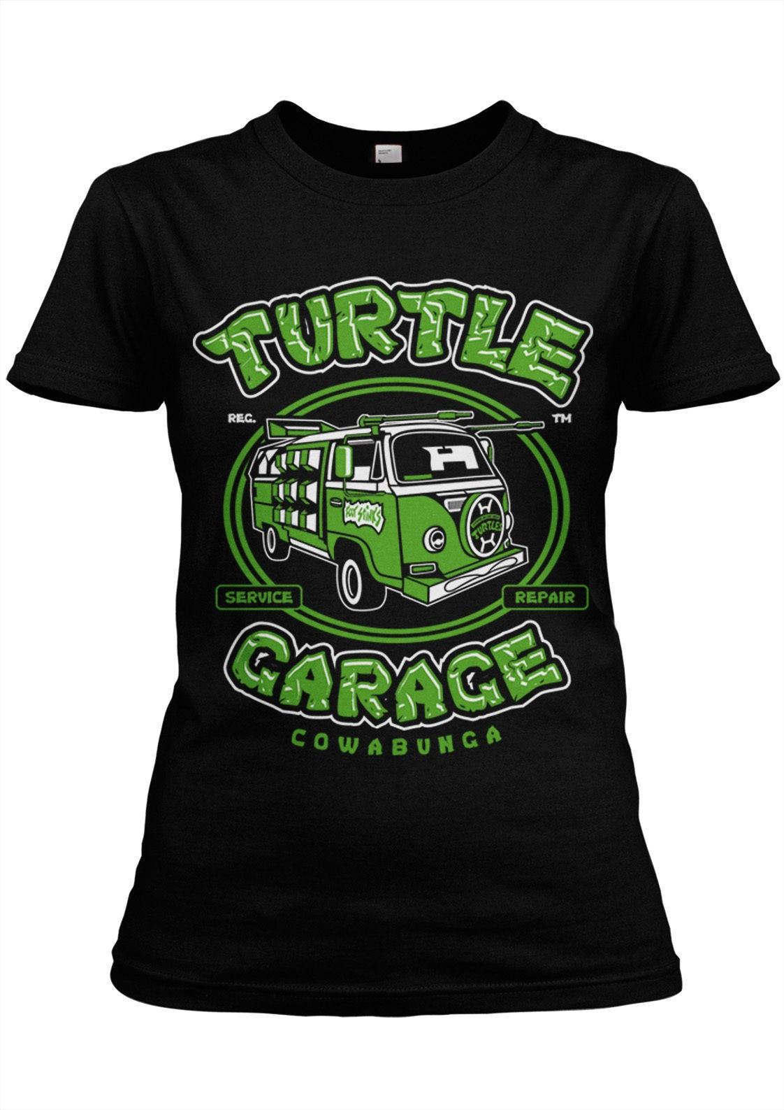 Fashion Summer Short Sleeve Tee Shirt Turtles Garage Girlie T-Shirt Ninja,Foot Soldiers,Shredder,TMNT,Master Splinter