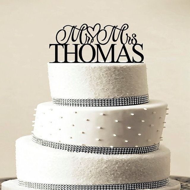 Custom Wedding Cake Topper Personalized Monogram Cake Topper Mr and