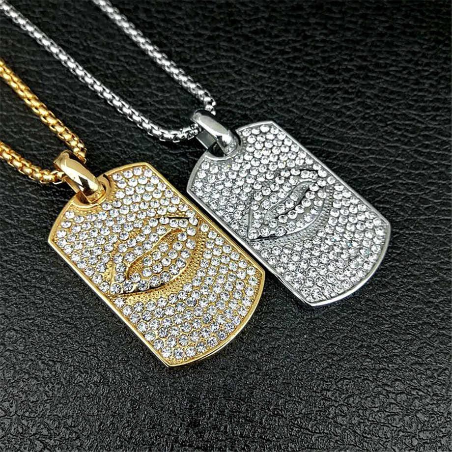 Czerwone usta wisiorek naszyjnik mężczyzn biżuteria Hip Hop łańcuch złoto srebro kolor muzyka Hip Hop Rock Rap naszyjniki biżuteria męska