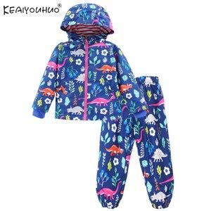 Crianças roupas primavera meninos conjuntos de roupas dos desenhos animados casuais meninas ternos esportivos manga longa meninas meninos conjuntos de roupas com capuz capa de chuva