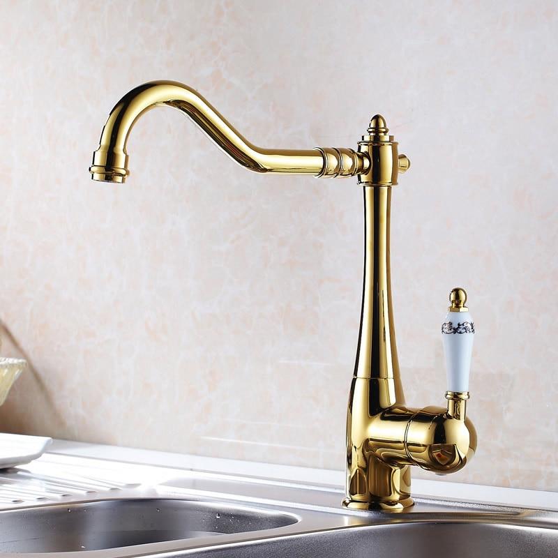 Sink Faucet Swivel Spout Single Lever Ceramic Handle Chrome Brass Deck Bathroom Basin Faucet Mixer Water Taps Kitchen Faucets