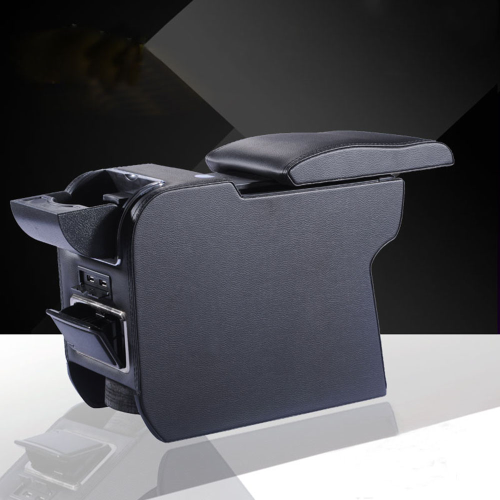 PU Leather Car Armrests Box Container Central Store Content Box For MINI Cooper One Countryman Clubman