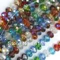 Shipping ~ 4 mm, 6 mm, 8 mm, 10 mm, 12 mm Color de la mezcla los granos cristalinos de rondelle, cristal 5040 accesorios