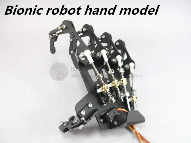 LB Custom bionic robot hand model all metal Five fingers joint movement 5dof robot humanoid metal manipulator five fingers anthropomorphic left right hand with servo