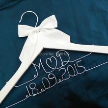 Индивидуальная Свадебная Вешалка для невесты, вешалка для невесты, вешалка для матери невесты, вешалка для костюма жениха, двойная линия