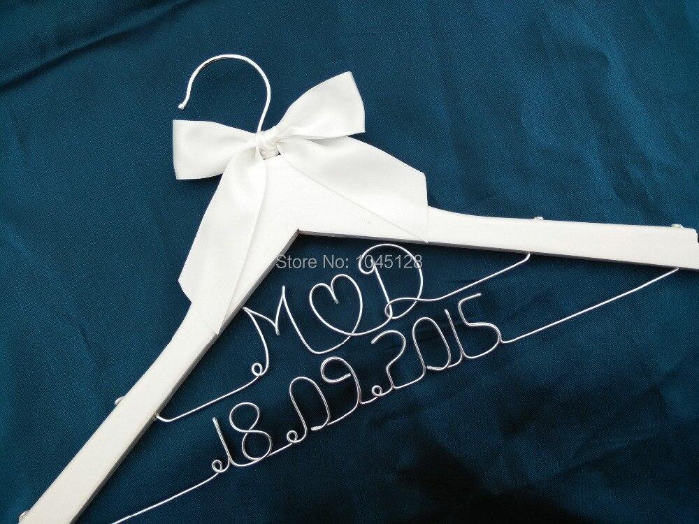 Custom Personalized Wedding Hanger Bridal Hanger Bridesmaid Hanger Mother of Bride GROOM Hanger double line