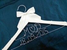 Пользовательских Персонализированные Свадебные Вешалки Свадебные невесты вешалка для матери невесты Вешалка Жених двойная линия