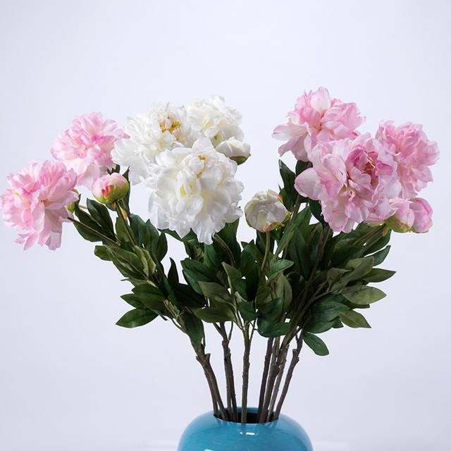 Height quality silk flower artificial decorative wedding flower height quality silk flower artificial decorative wedding flower bouquet simple style easy cleaning large size peony mightylinksfo