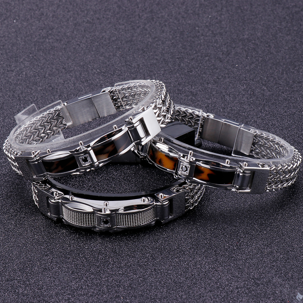 Image 4 - Braided Keel Mens Bracelets For Men With Magnet Clasp Male Jewelry 316L Stainless Steel Mens Friendship Bracelets 2019 DropshipChain & Link Bracelets   -
