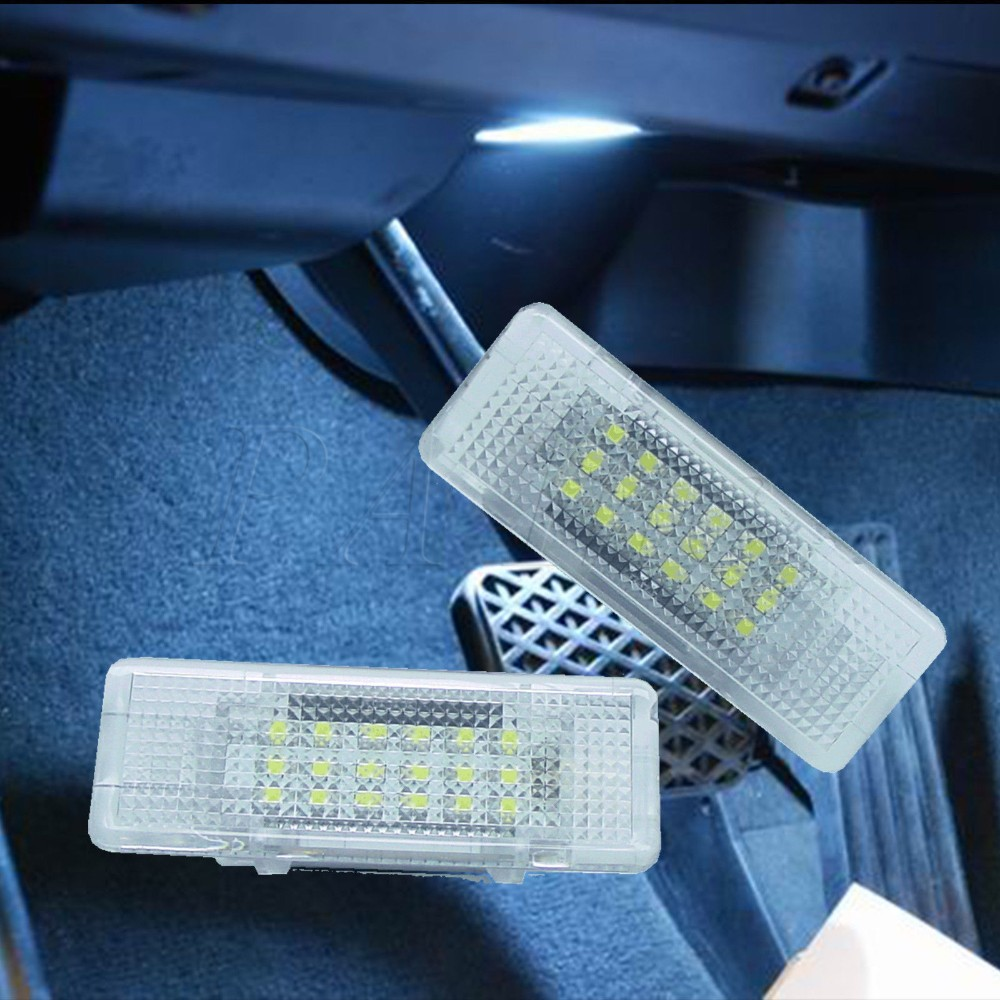 2pcs Super WHITE Canbus OBC Error Free LED FRONT FOOTWELL LAMP LIGHT BULBS FOR BMW X5