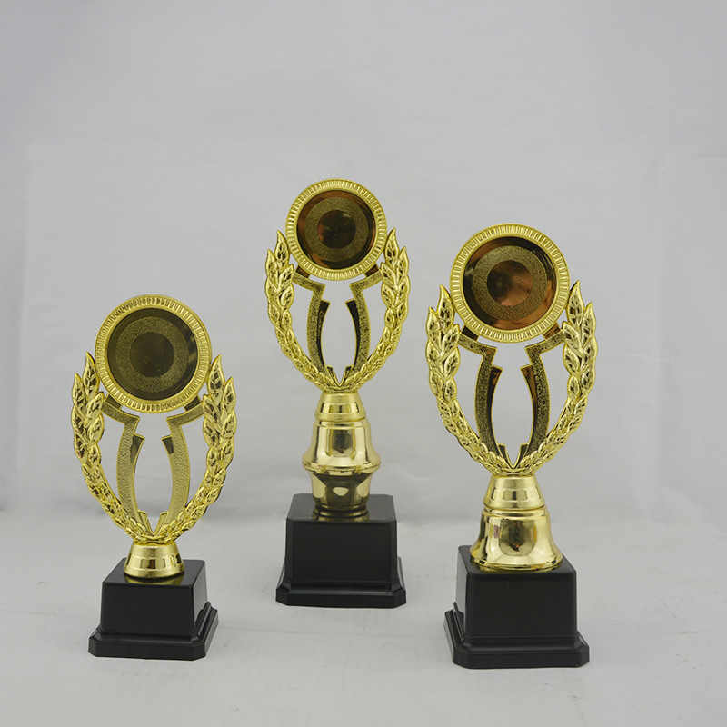 19 24 27cm Customize Trophy Cup Golden Plating Sport Prize Award For Children Sports Meeting Champion Reward Winner Souvenir Gif
