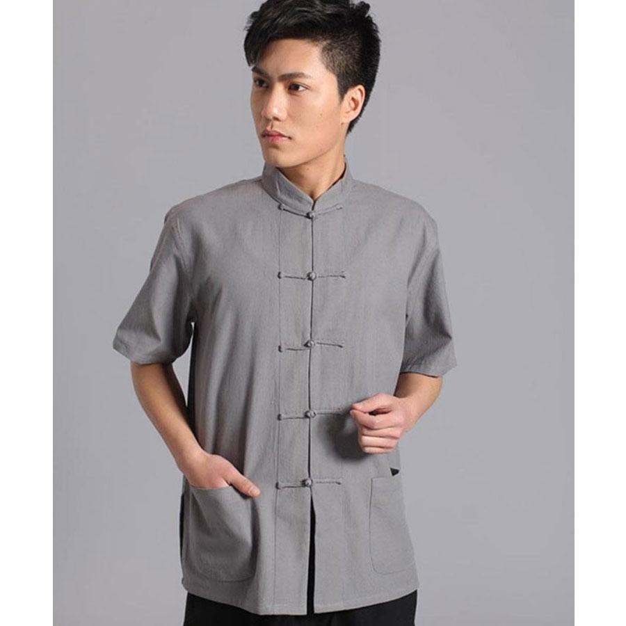 Umorden majica kratkih rukava Pamuk Tang Top Men Kung Fu Tai Chi - Nacionalna odjeća - Foto 5