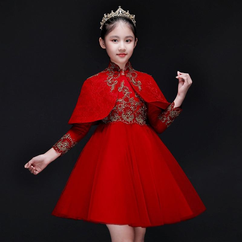 Moda Handmade Flores Vestidos Da Menina de