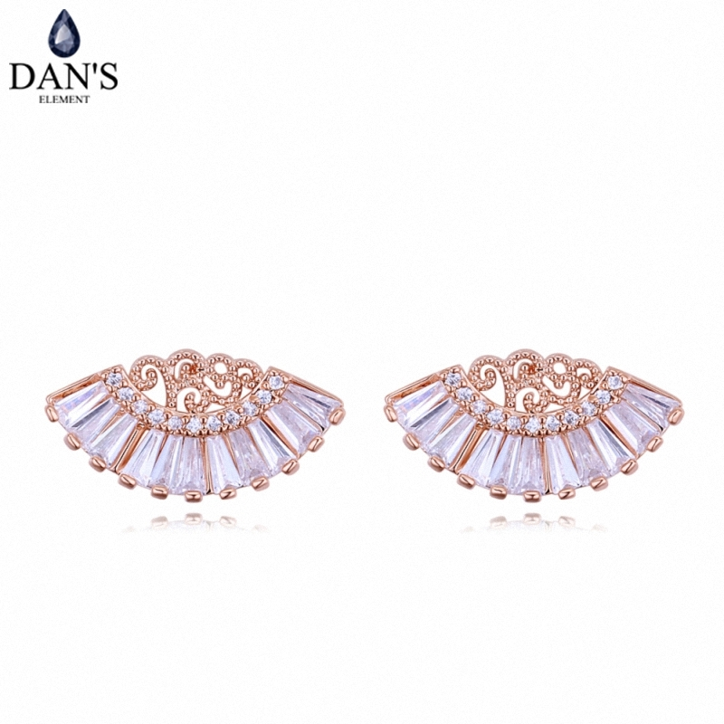 DANS 3 Colors Real Austrian crystals Stud earrings for women Earrings s New Sale Hot Round 128282