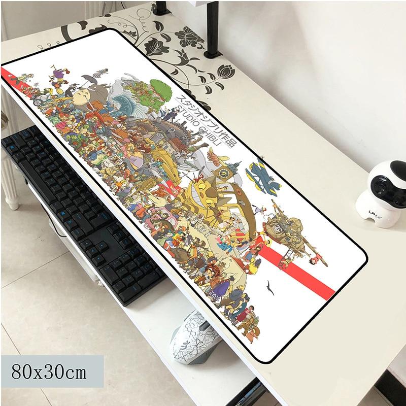 Totoro Mouse Pad 800x300x3mm Mouse Mat Laptop Big Padmouse Notbook Computer Gaming Mousepad Best Seller Gamer Play Mats