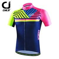 CHEJI Men S Cycling Shirts Bike Bicycle Shirts Short Sleeve Cycling MTB Jerseys High Visibility Reflective