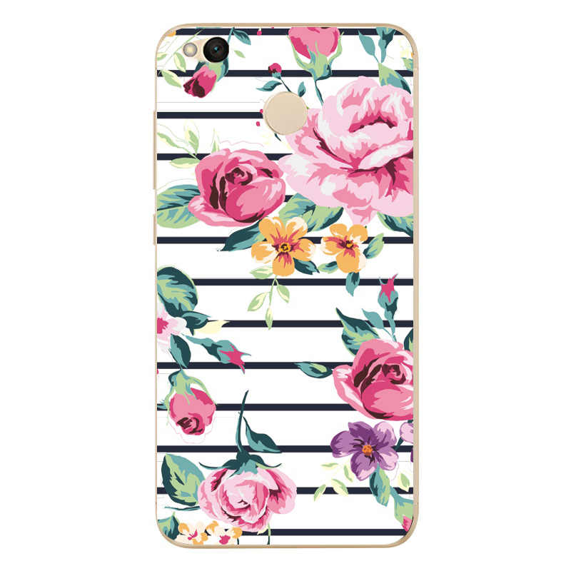 For Xiaomi Redmi 4X Hongmi 4 x Phone Case Cute Colorful Soft TPU Silicone Phone protective Cover <font><b>0682</b></font> image