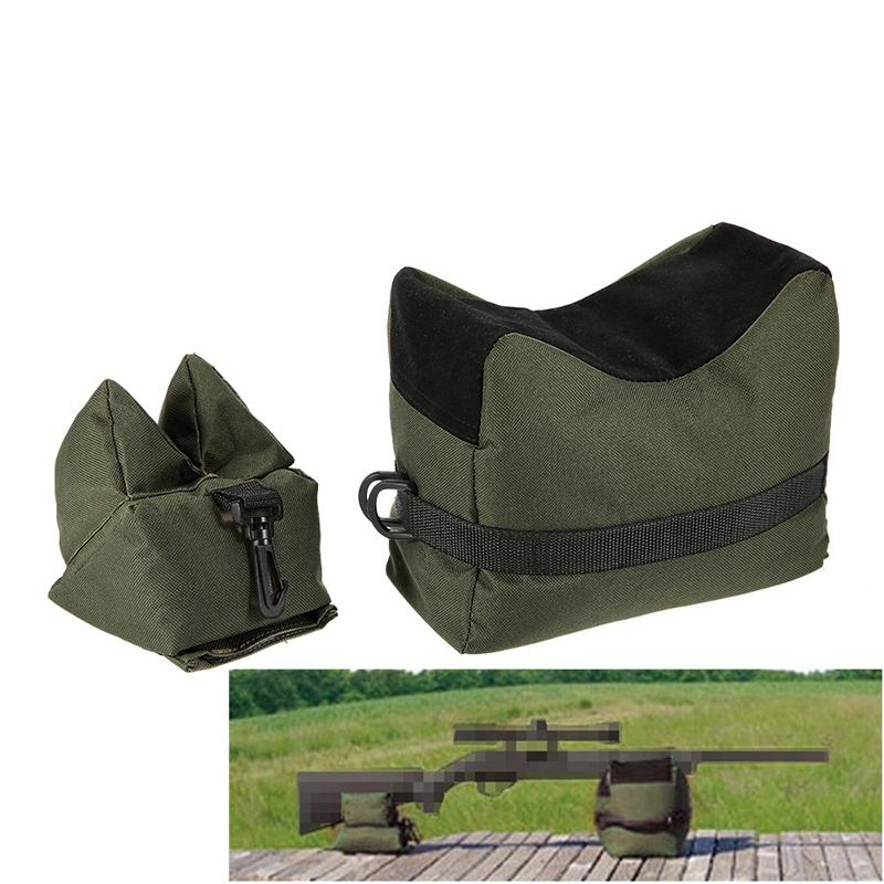 Tactical Rifle Gun Rest Outdoor Hunting Shooting Sandbag Bench Unfilled Rifle Gun Front Rear Bag Beach Hunting Rifle Accessories