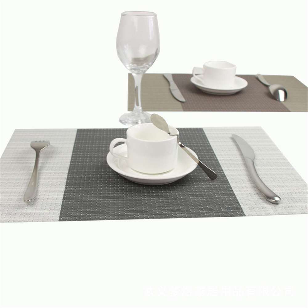 4pcslot placemat coasters fashion pvc dining table decorate mat disc pads bowl pad waterproof
