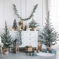 Christmas Artificial Tree Snowflake Cedar Pine Cone Fake Tree Hanging Ornaments New Year Decorations For Home Navidad Decor 2019