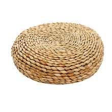 Круглый натуральное соломенное Плетение ручной работы Подушка пол Йога стул татами подушка для автомобиля, подушка для медитации оконная Подушка 30/40/45 см