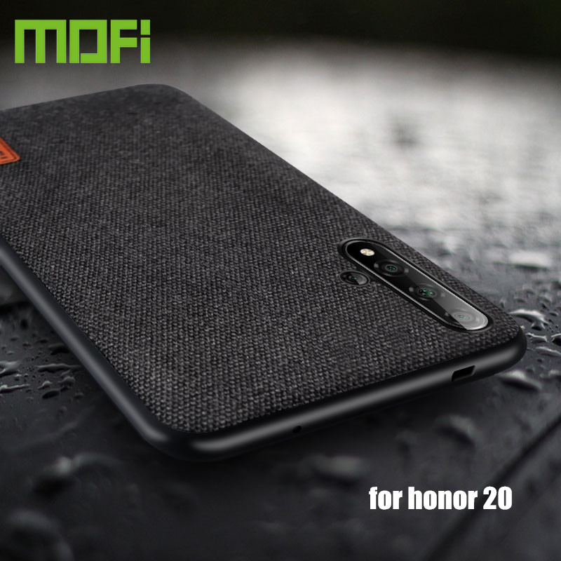 for huawei honor 20 case cover MOFi original honor20 back cover fabric cloth silicone capas honor 20 pro protective cases