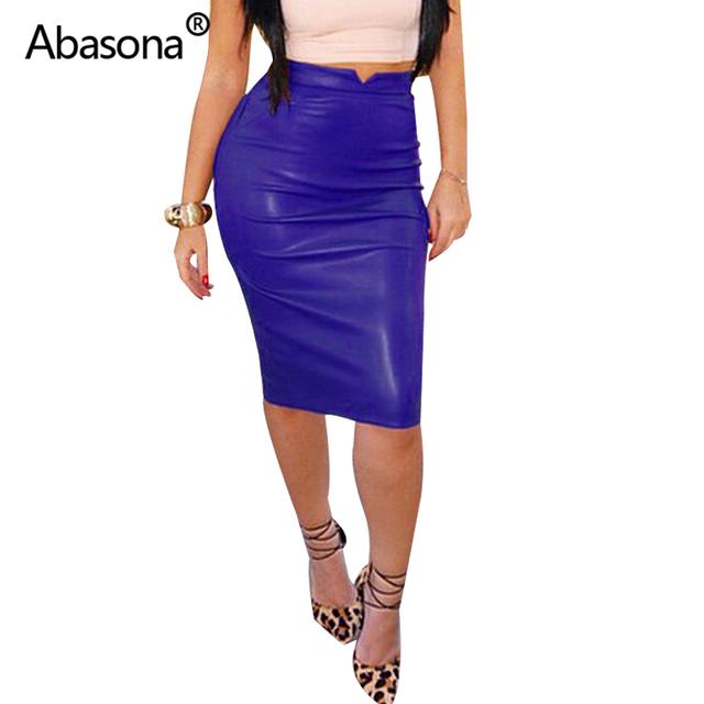 Women Pu Leather Skirt Autumn Streetwear Casual Office Work Wear Bodycon Pencil Skirt High Waist Long Velvet Skirts Women Jupe