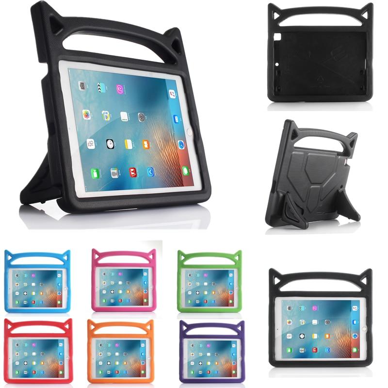 Safe EVA Shockproof Case for iPad mini 1 2 3 4 Universal Cover Cute Cat Ear Stand Tablet Kids Case for funda iPad Mini 1 2 3 4
