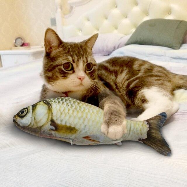 Divertente Catnip Giocattoli per Gatti Peluche Ripiene Forma di Pesce Gatto Gioc