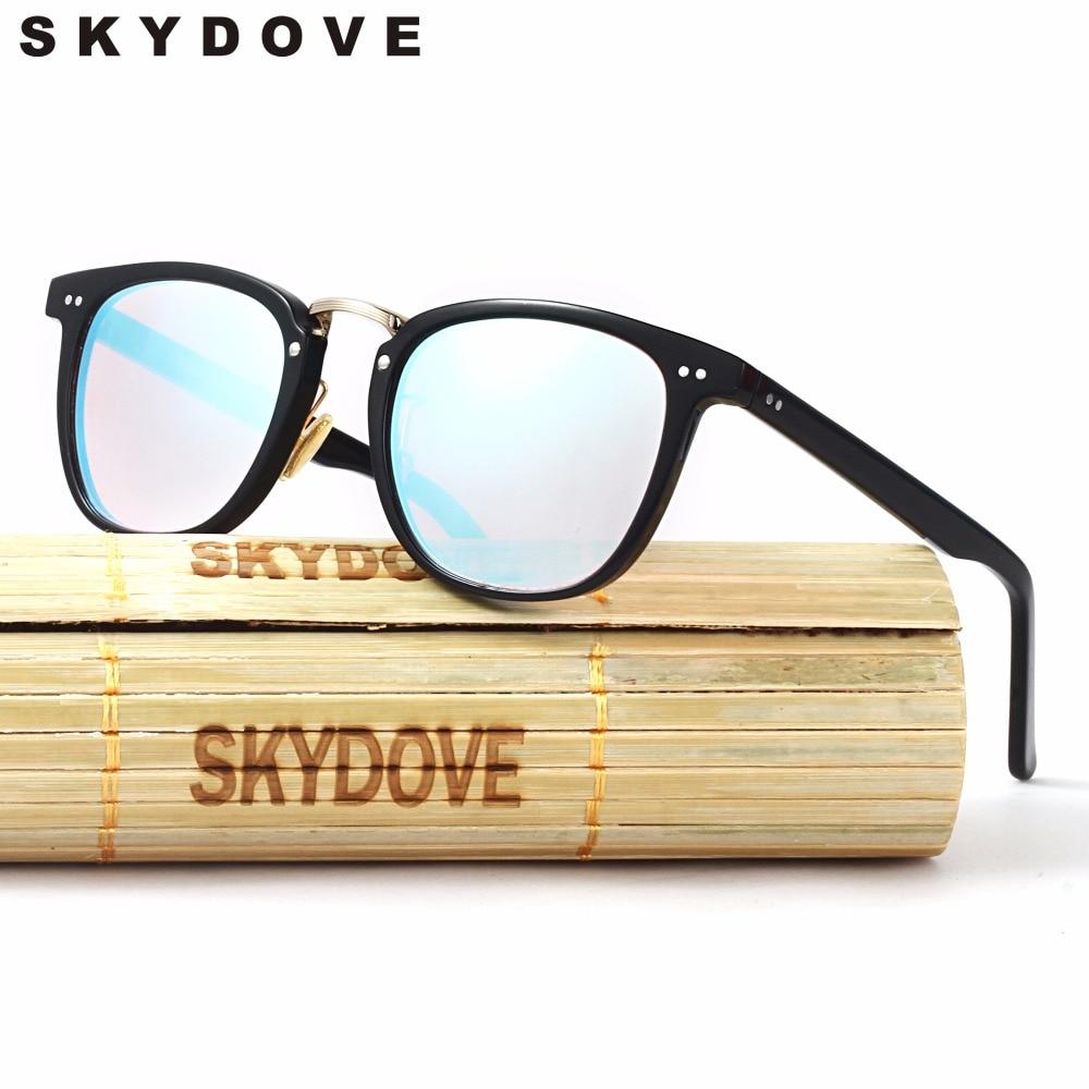 SKYDOVE Vintage Couleur La Cécité Verres Des Lunettes de Pilote D'essai Rouge Lentilles Hommes Lunettes De Soleil En Plastique lunettes de soleil-femmes