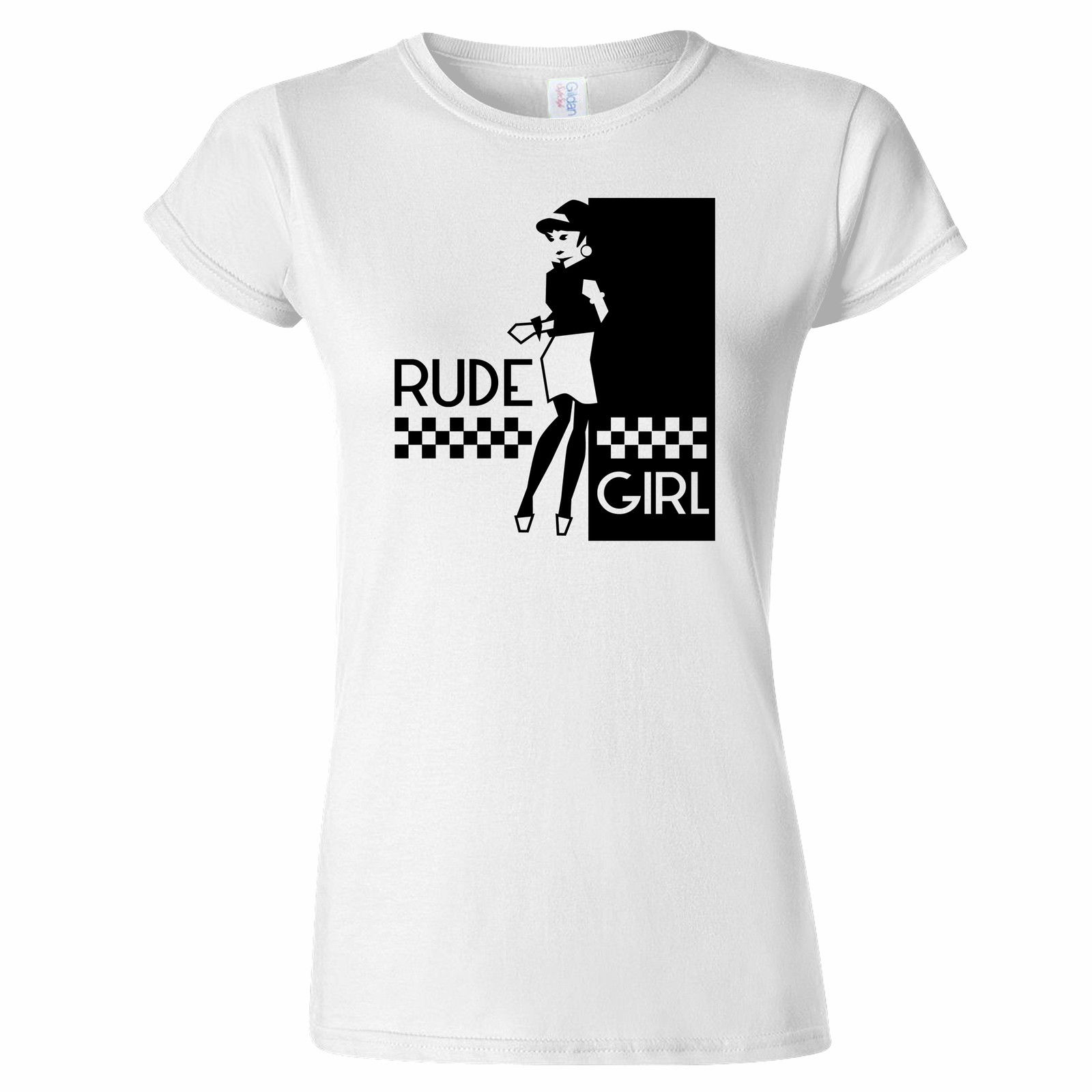 Beat Betty Rude Girl (2) Womens 2 Tone Two Tone Suggs T Shirt Specials Ska Branded 100 % Cotton Organic Cotton T-Shirt