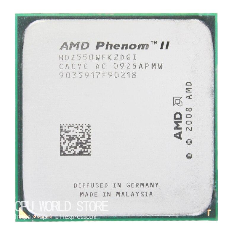 AMD Phenom II X2 550 Dual-Core CPU Processor 3.1Ghz/ 6M /80W / 2000GHz Socket Am3 Am2+ 938 Pin Free Shiping