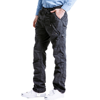Drop shipping new autumn zippers cargo pants for man military pockets casual trousers overalls AXP139