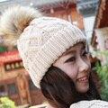 free shipping# Fashion 8 Colors Warm Winter Women Beret Braided Baggy Beanie Hat Ski Cap