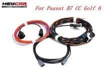 For VW Passat B7 CC Golf 6 Highline  Emblem Flip logo Rear Camera  Install Wiring Harness cables