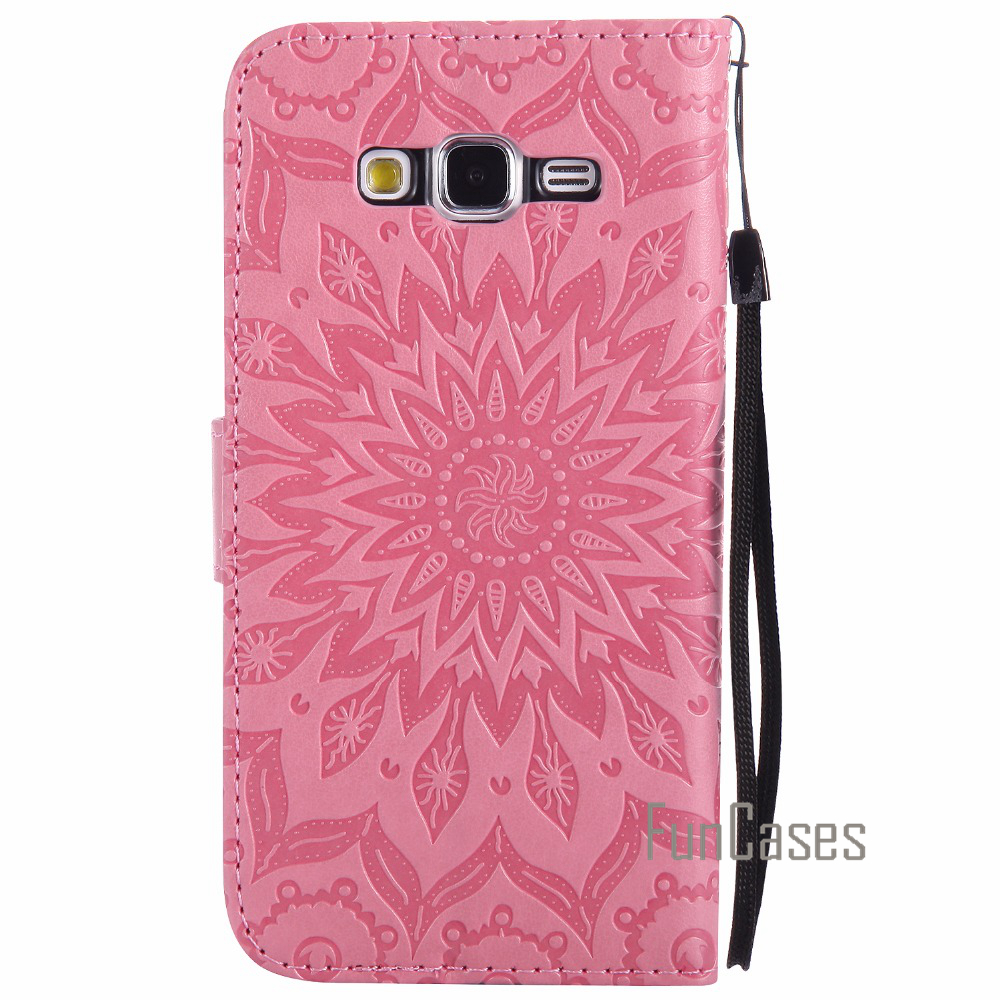 Luxury Flower Embossed Case sFor fundas Samsung Galaxy Grand Prime Case Cover G530 G530H for Grand Prime Duos SM-G530H Case