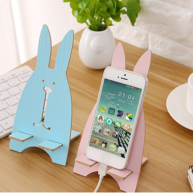 Cobao Bunny Styling Phone Holder for iPhone 7 Universal Mobile Phone Holder Stand Desk Mount Holder Stand for Samsung Tablet