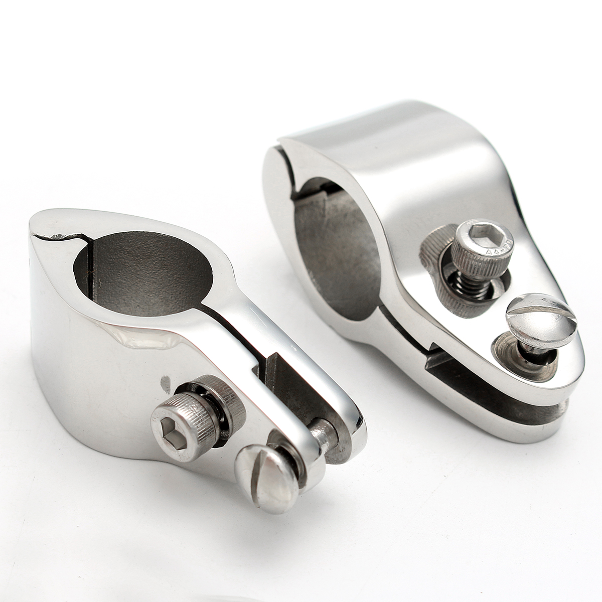 22/25mm 316 Stainless Steel Fitting <font><b>Boat</b></font> <font><b>Bimini</b></font> <font><b>Top</b></font> Hinged With 2 Screws Jaw Slide Easy Install Marine Hardware image